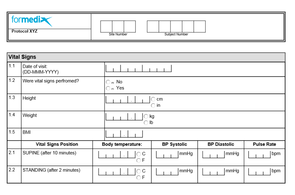 Well designed form example